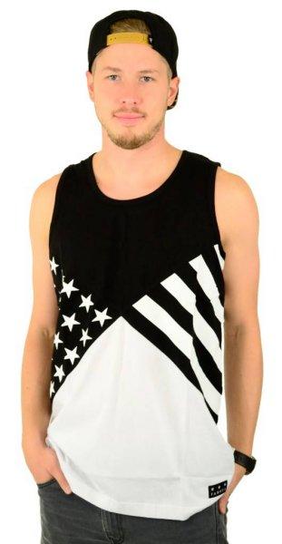Noir Flag Tank Top Black/White