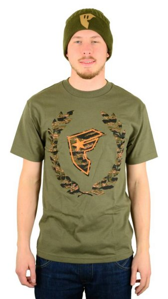 Camo Boh Wreath T-Shirt Military Green/Orange/Tiger