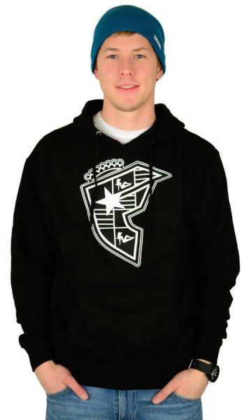 Silhouette Boh Pullover Hoodie Black/White Größe: S