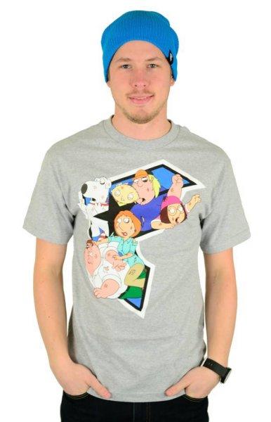 X Family Guy Griffin Brawl T-Shirt Heather Grey Größe: S