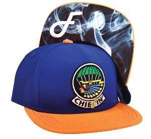 Chiefin Snapback Cap Navy/Orange