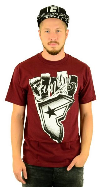 Wild Torn T-Shirt Burgundy Größe: S