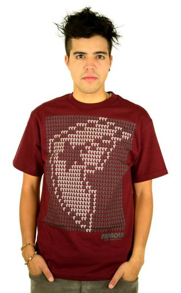 Data Boh T-Shirt Burgundy/Grey/White Größe: S