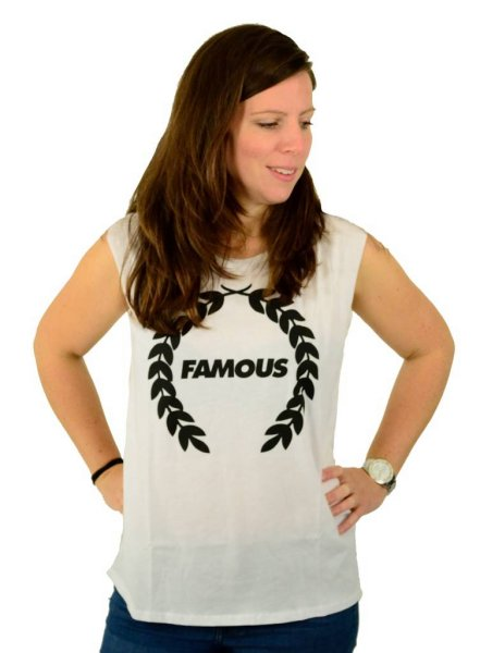 Turnt Wreath Muskel T-Shirt White