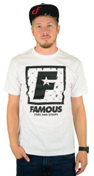 F Flat Squared T-Shirt White/Black Größe: S