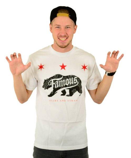 Calibear Steppin T-Shirt White Größe: S