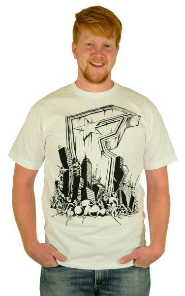 Doomed T-Shirt White/Black Größe: S