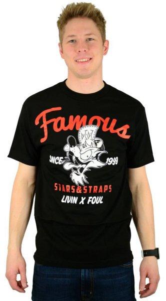 Living Foul T-Shirt Black/Red/White