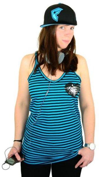 Pink Lady Striped Lucky Tank Black/Blue Größe: M