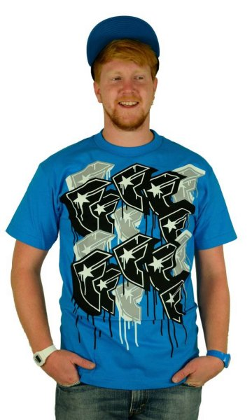Multiply T-Shirt Turquoise/Grey/Black