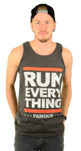 Run Everything Tank Top Charcoal Heather
