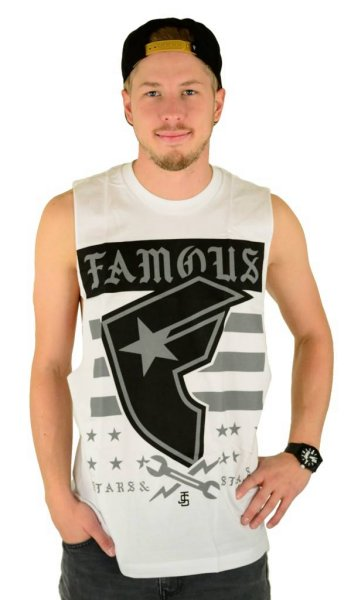 Twitch Stars and Bars Tank Top White