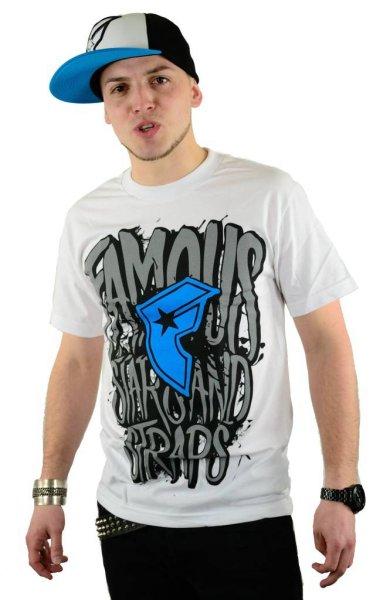 Huge T-Shirt White/Cyan Größe: S