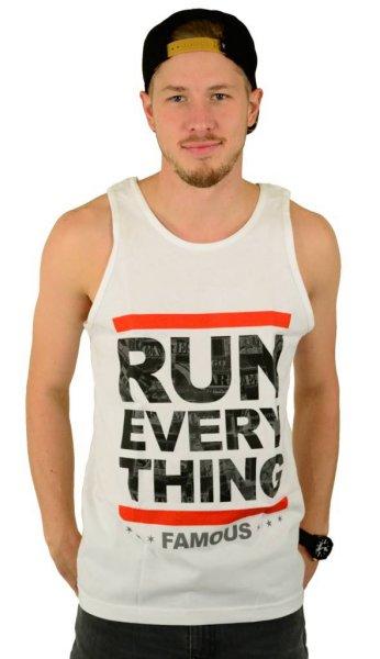Run Everything Tank Top White