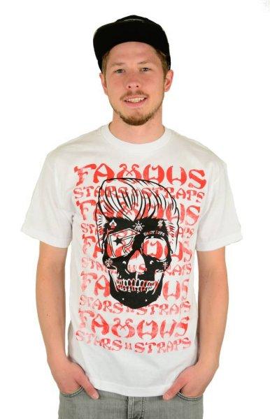 Pompadour Skull T-Shirt White