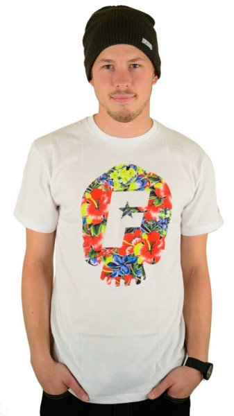 Skull Bloom Premium T-Shirt White