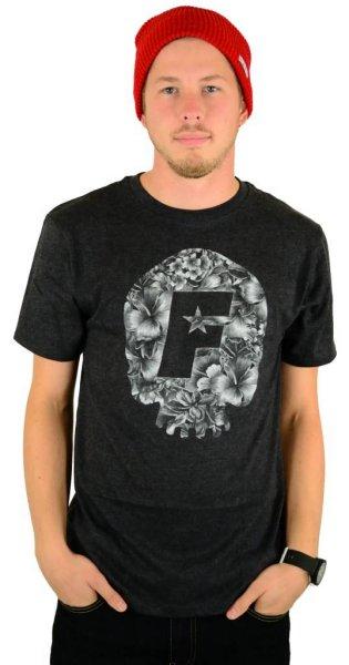 Skull Bloom Premium T-Shirt Black Heather