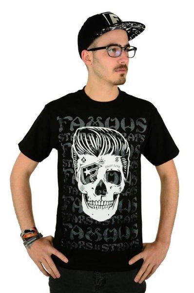 Pompadour Skull T-Shirt Black Größe: S