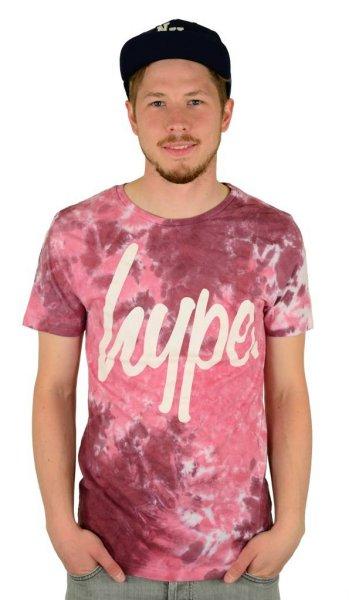 Dye Rust T-Shirt Burgundy/White
