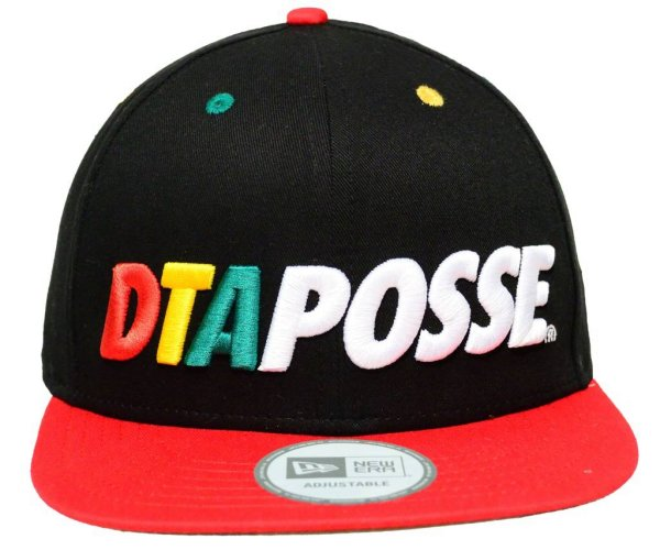 Bold Posse New Era Snapback Cap Black/Rasta