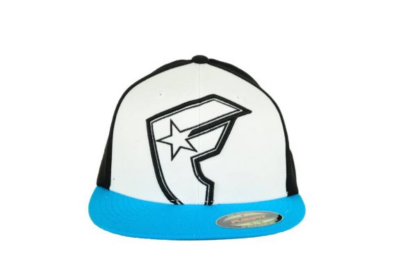 Giant Hollow Boh Flex Fit Cap White/Black/Turquoise Größe: S/M