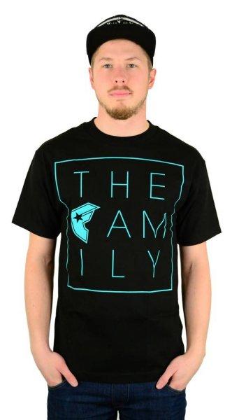 The Family T-Shirt Black/Teal Größe: S