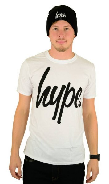 Script T-Shirt White/Black