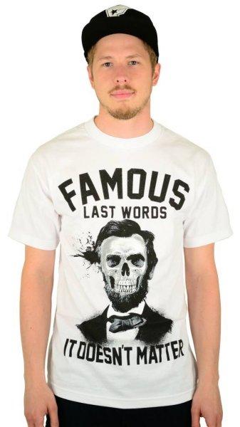 Last Words T-Shirt White Größe: S