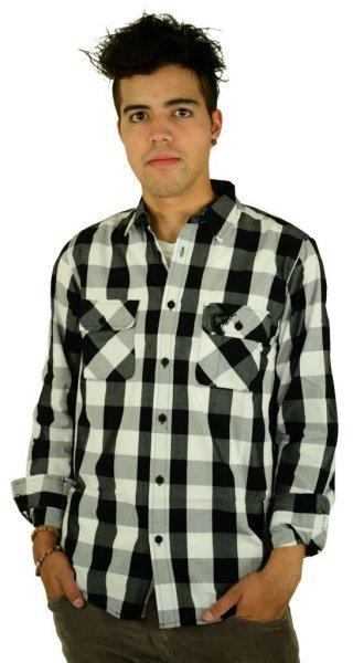 In Control L/S Woven Shirt Black/White Größe: M