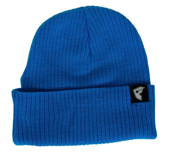 Labeled Beanie Hat Turquoise
